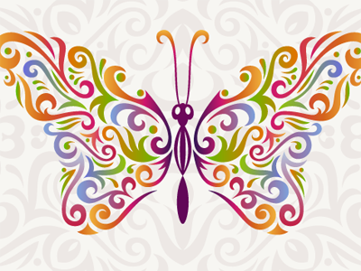 Vector Butterfly with MirrorMe butterfly illustrator tutorial mirrorme pattern seamless pattern pattern brush
