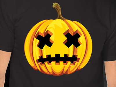 Vector Pumpkin illustrator tutoral vector halloween pumpkin head t-shirt design