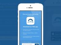 rentalcars.com Download app mSite modal