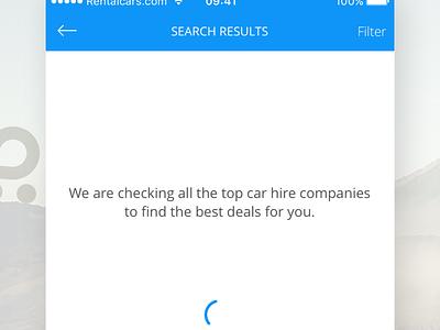 Rentalcars.com Mobile App app ux ui travel rentalcars.com rental cars mobile ios