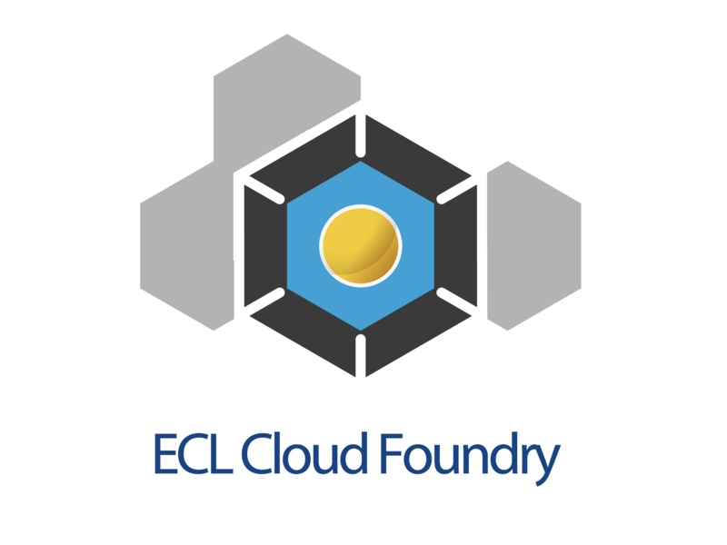 ECL2.0 Cloudfundry Service Icon illustration logo web app design icon cloud app