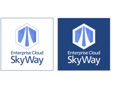ECL2.0_SkyWay Service Icon minimal flat branding vector typography design web app design logo illustration icon cloud app