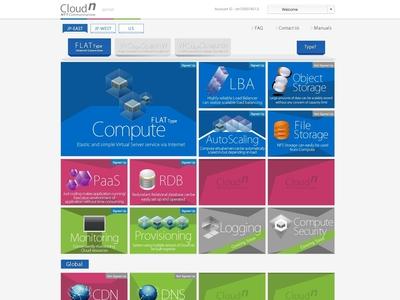 NTT Communications Cloudn Portal Website Design