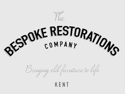Bespoke Restorations Logo Design simple typography branding identity logo