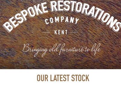 Bespoke Restorations logo typography wood website e-commerce branding furniture design
