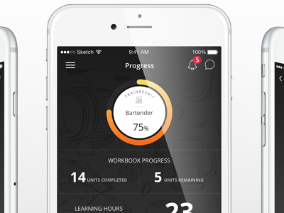 Barcode Homepage Design bars progress desktop mobile interface