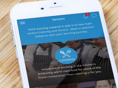 Education App flat design iphone ios app kitchen catering cooking