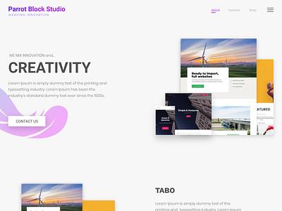 Theme Landing page web webdesign design minimal ui design wordpress website web development theme design theme uiux ui