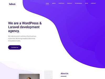 Lubus Web Agency theme uiux uidesign website design web agency landingpage ui design ui minimal website webdesign web