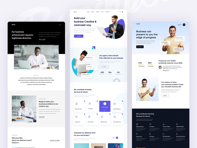 Business website templates webdesign user experience user interface design business agency website development typogaphy color ui uxdesign digital agency agency branding webui minimal interface agency landing page design website business agency 2020 trend 2020