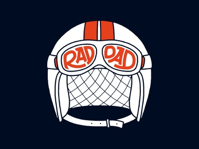 Rad Dad illustration helmet hand lettering lettering typography