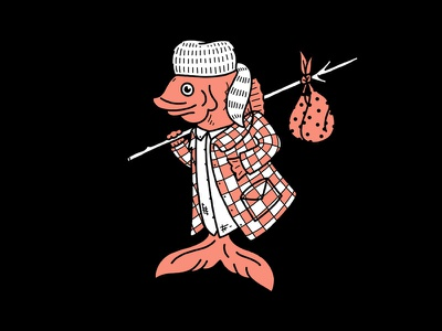 Drifter fish drifter illustration
