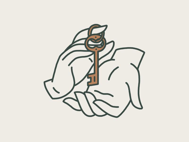 Key key hands illustration