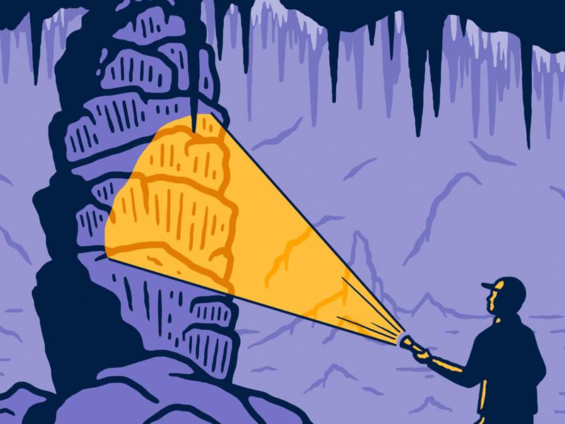Carlsbad Caverns National Park illustration sendero national park caverns carlsbad