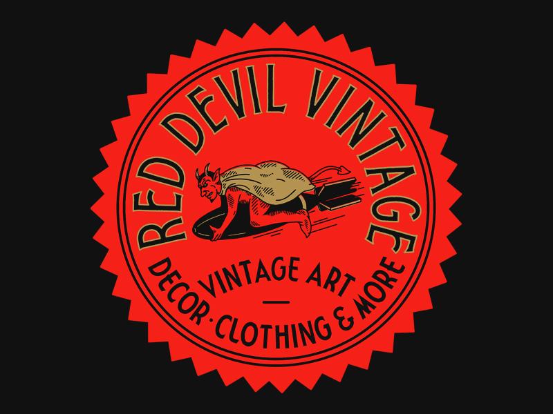 RDV branding devil hand lettering lettering illustration