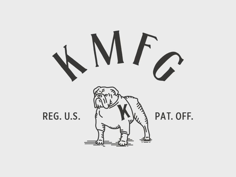 KMFG Mascot mascot bulldog knickerbocker design illustration hand lettering lettering