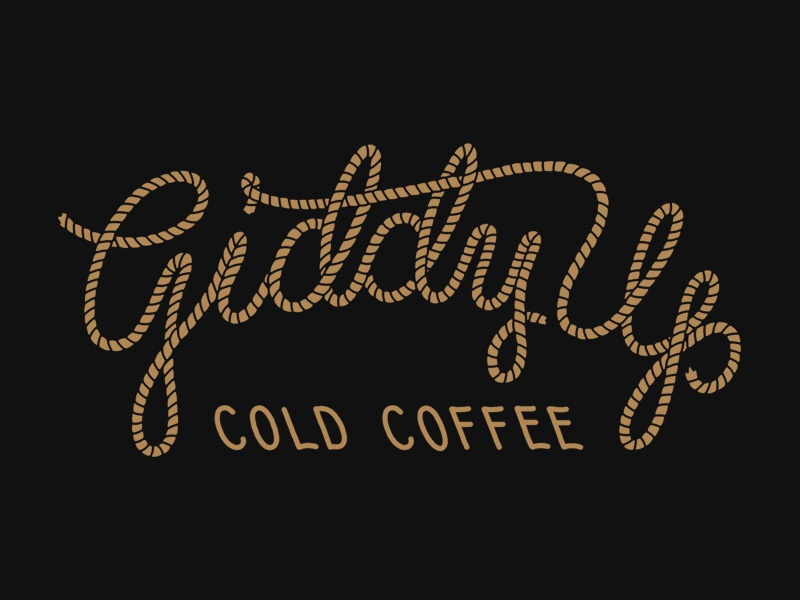 Giddy Up coffee type western rope branding hand lettering lettering