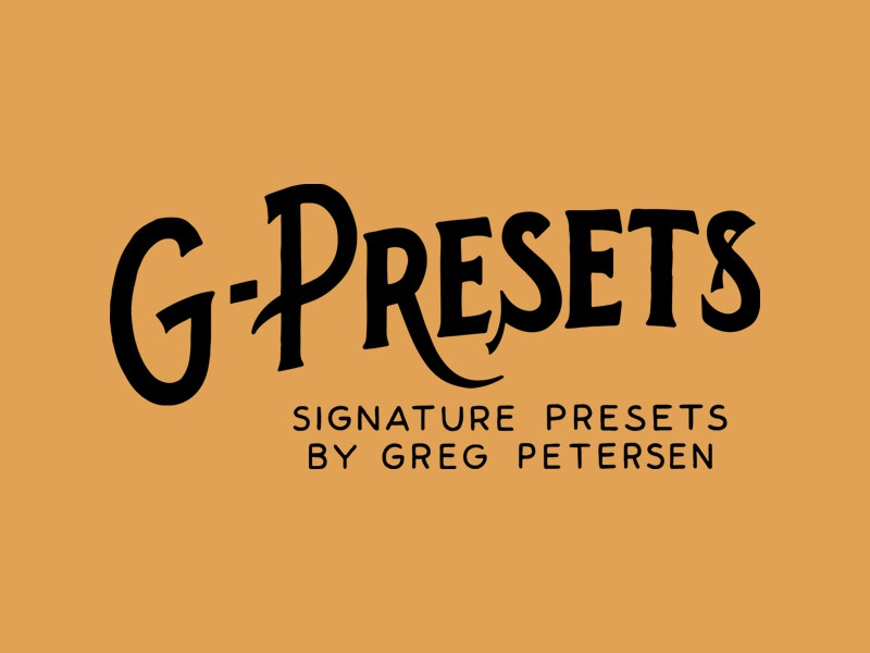 G-Presets branding type presets photography typography hand lettering lettering