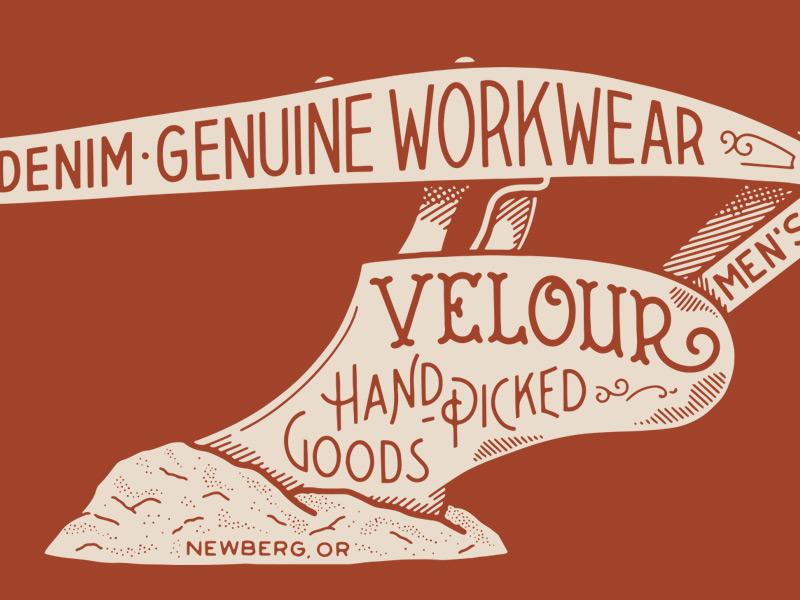 Velour 01 plow branding type typography hand lettering lettering illustration