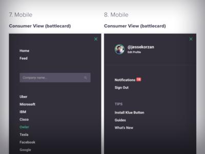Mobile UI Drawers