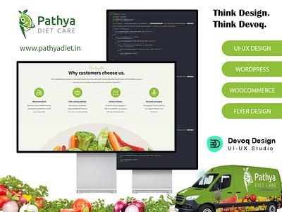 Pathya Diet Care UI & E-Commerce Development vector design clean graphic design foodie plans diet woocommerce