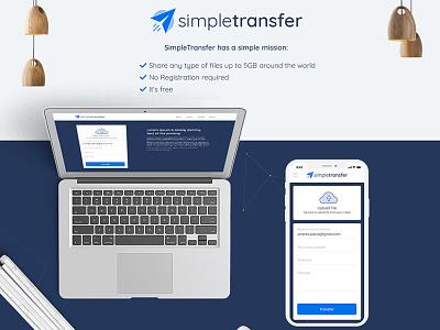Simpletransfer Web App UI-UX website mobile web ux ui clean app web app design typography vector illustrator icons graphic design flat design branding