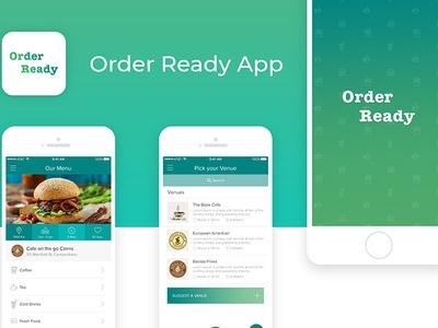 Orederready Mobile App UI food app ux typography mobile illustrator icons graphic design flat design clean branding app