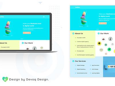 Raftika Web photoshop flat  design flatui webdesig xd app logo vector ux typography illustrator graphic design design clean