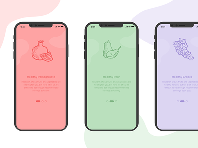 On-Boarding Health App ui web photoshop logo food app flatui flat  design vector mobile icons flat ux illustrator graphic design design clean app onboarding illustration onboarding flow onboarding
