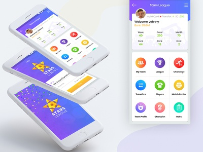 Football Fantasy App UI Design illustrator branding icons indian developers free app free ai free dribbble graphic design app design fantasy football football