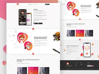 Free Mobile App Landing Page uiux mobile design icon illustrator landingpage photoshop download psd freebie psd freebie