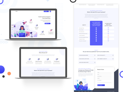 Amazon Listing Services Landing page Freebie source code vector clean ui graphic design illustration amazon landing page design illustrator webdesign creative freebie amazon fba seller landingpage