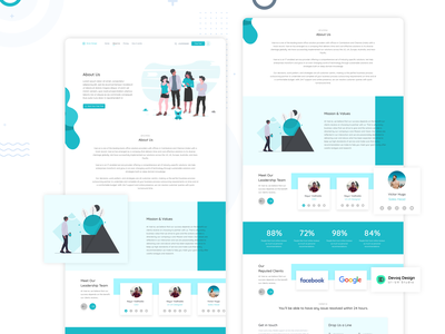 Corporate About Us UI Freebie eye catching graphic design clean vector creative professional corporate illustrator freebie xd freebie about us about