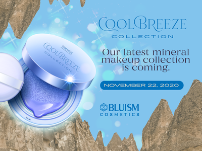 Cool Breeze Collection cosmetics banner makeup
