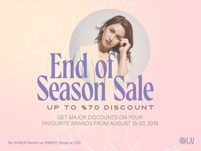 END OF SEASON SALE design canva banner ad fashion