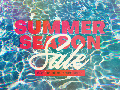 Summer Season Sale shopping canva water poster summer sale ad banner