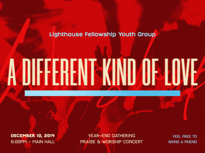 A different kind of love concert christian design canva ad poster banner