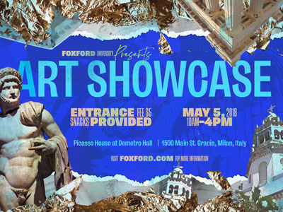 Foxford Art Showcase showcase canva event ad banner