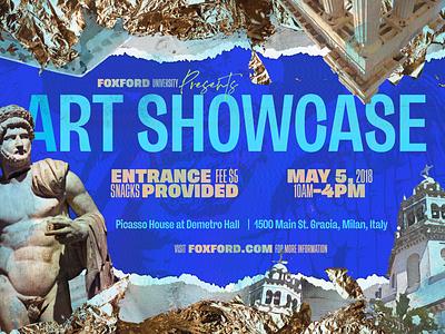Foxford Art Showcase showcase canva event ad banner