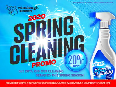 spring cleaning cleaners maid spray clean spring cleaning canva ad banner
