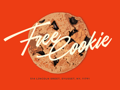 FREE COOKIE cookie canva ad banner poster