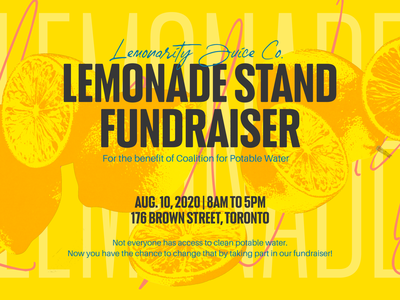 Lemonade stand poster event ad banner