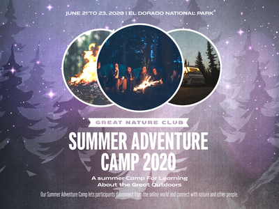 Summer Adventure Camp design ad canva poster banner