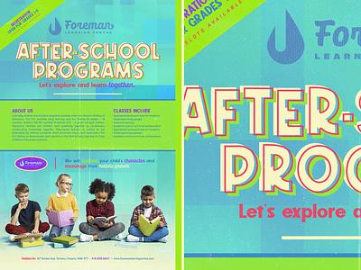 After School Programs canva poster kids school
