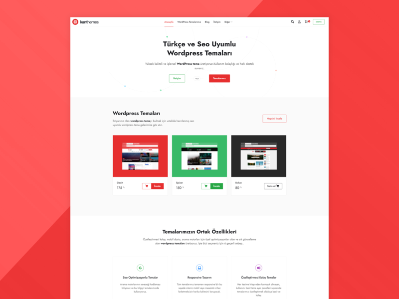 Kan Themes webdesign website web design theme flat wordpress