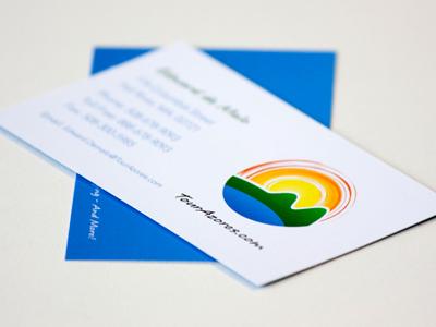 Tour Azores Card print design business card paper