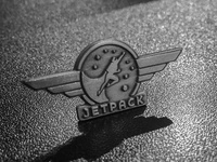 Jetpack Antique Silver Pins