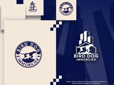 Bird Dog Immobilier minimal website dog logo illustrator typography illustration flat design vector logo