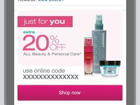 Walgreens.com Beauty and Personal Care email