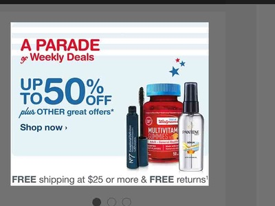 homepage HERO design for weekly promo walgreens.com memorial day 2015